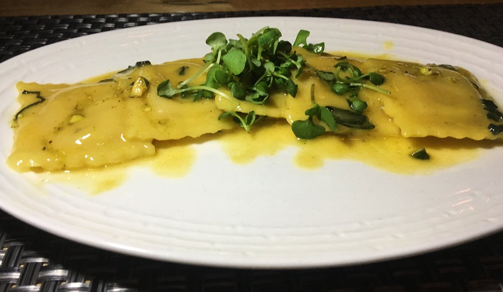 Butternut Ravioli - Citrus, Brown Butter, Sage, Toasted Pistachio