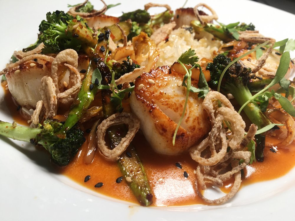 H2O seared scallops - Fashionable Foodie