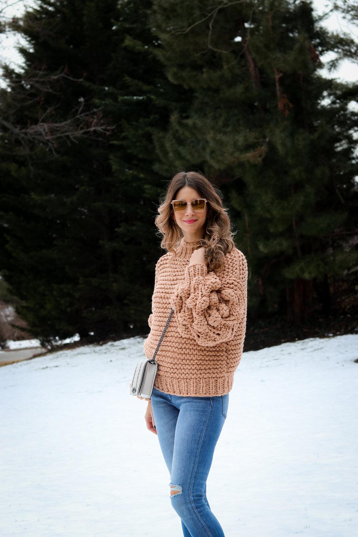 chunky knit sweater fashionablefoodieny