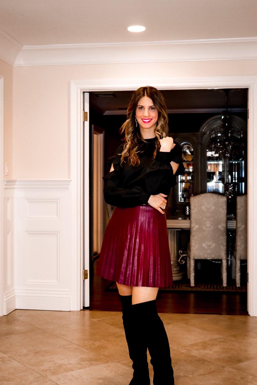burgandy leather skirt and otk boots.JPG