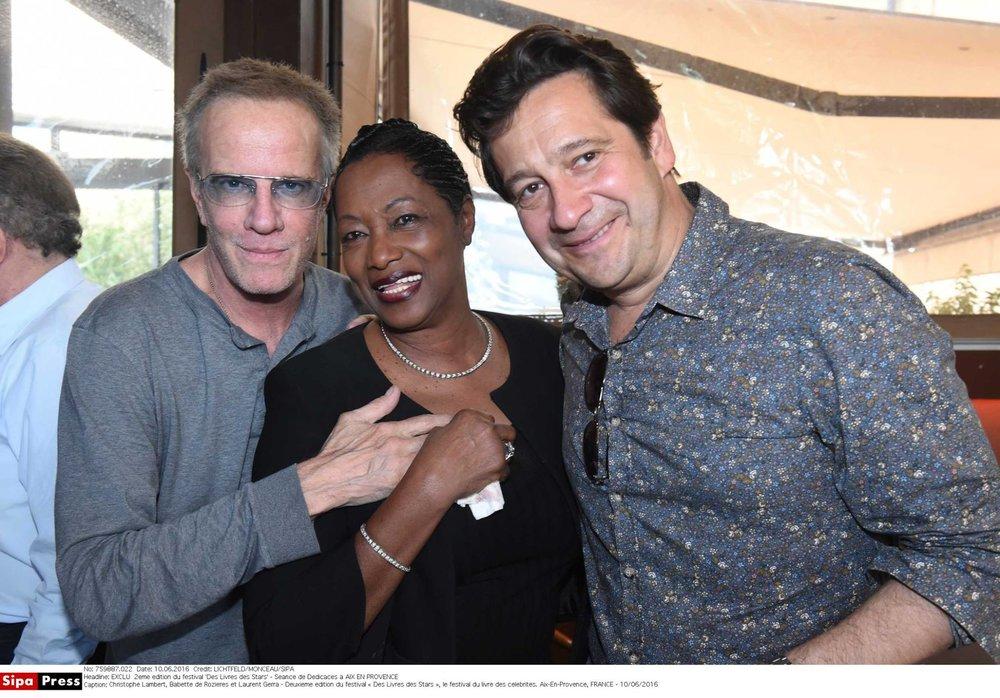 Christophe, Babette de Rozieres et Laurent Gerra