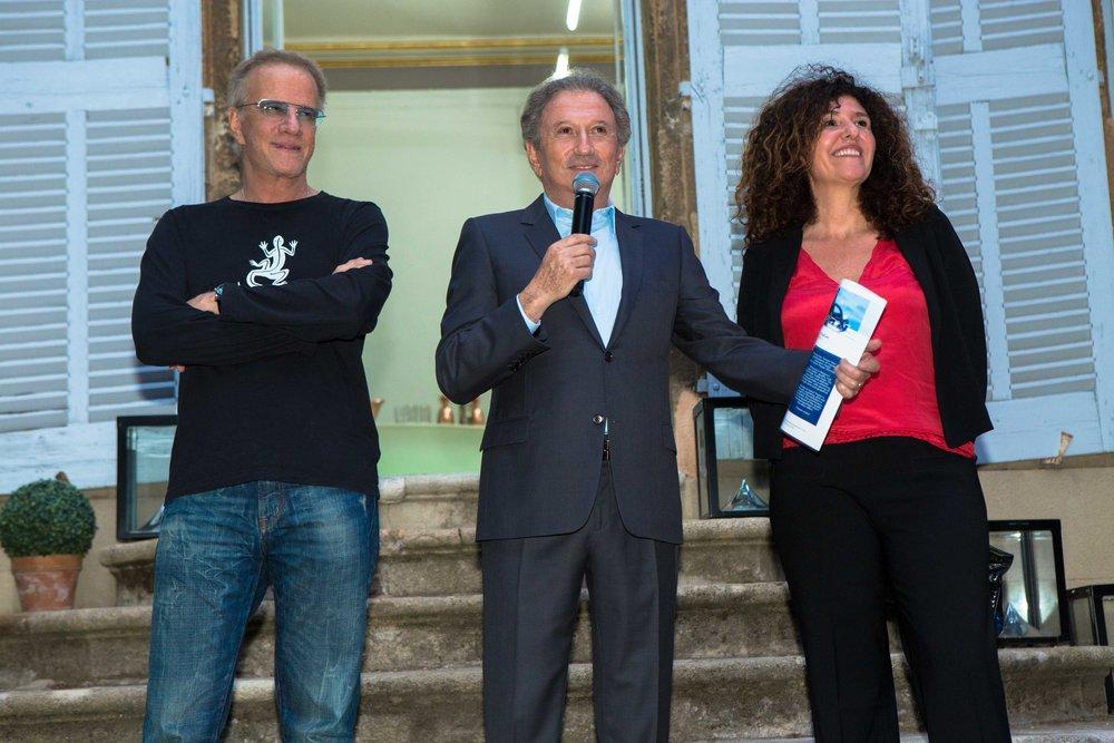 Christophe Lambert, Michel Drucker et Françoise Smadja
