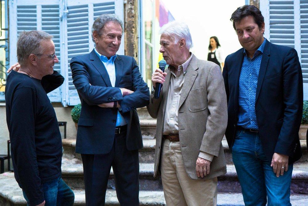 Christophe Lambert, Michel Drucker, Guy Bedos et Laurent Gerra
