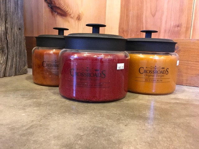 48 oz Crossroads Candles~ $45.00  Burns for approx. 150-170 hours