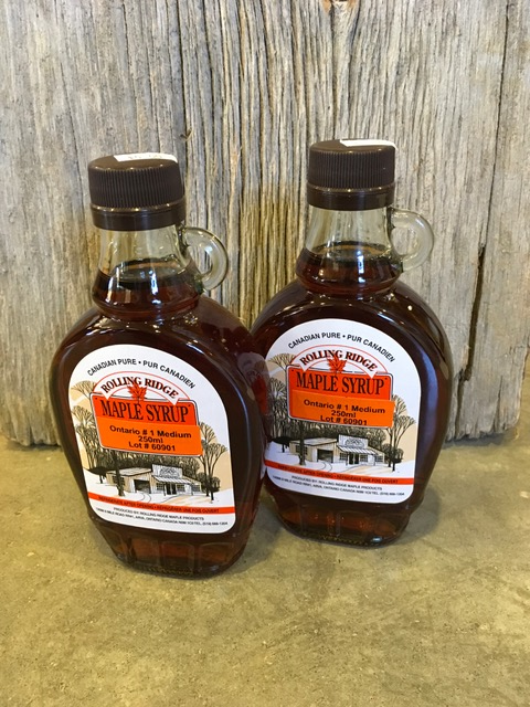 250 ml Rolling Ridge Maple Syrup~ $6.00
