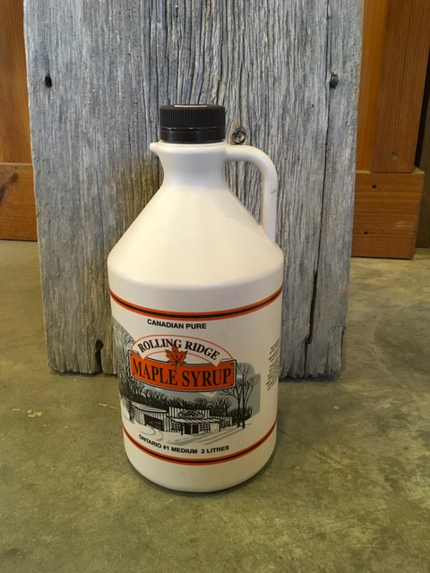 2 L Rolling Ridge Maple Syrup~ $30.00