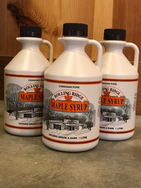 1 L Rolling Ridge Maple Syrup~ $18.00