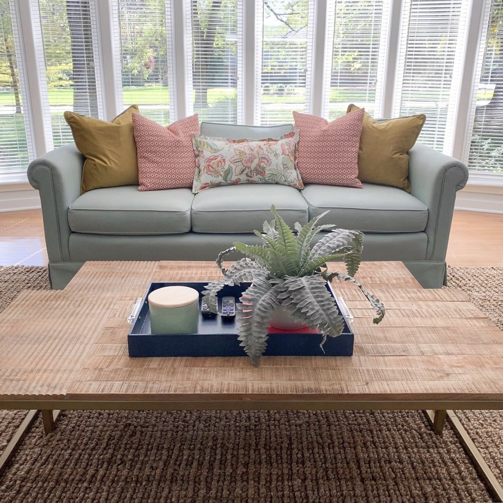 custom throw pillows and bay window