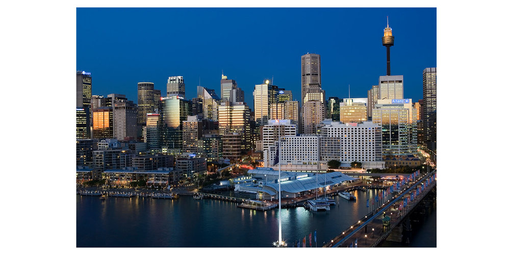 Darling Harbour night and day, Sydney