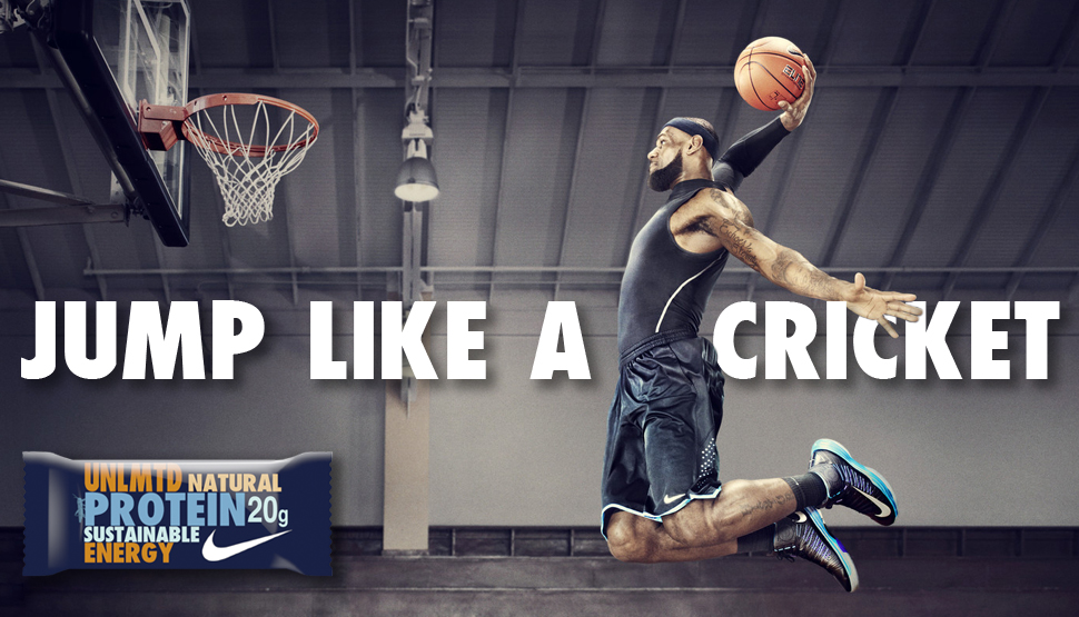Billboard example with slogan and influencer Lebron James