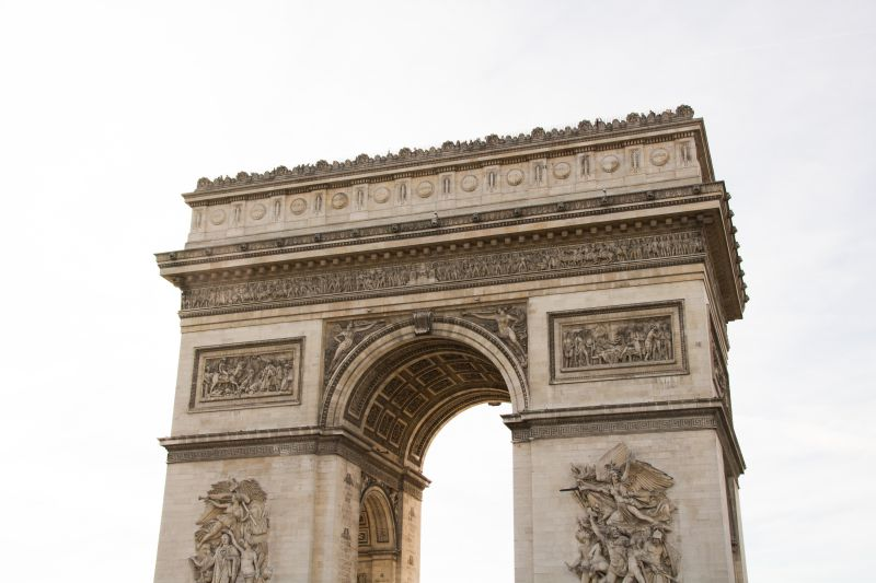 Arc de Triomphe close-up Paris France