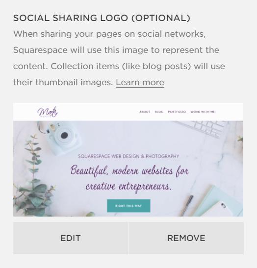 squarespace social sharing logo