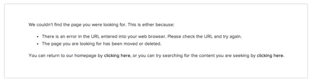 Squarespace default 404 error page