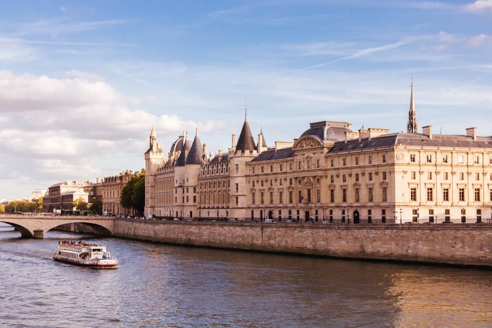 Paris landscape Seine river