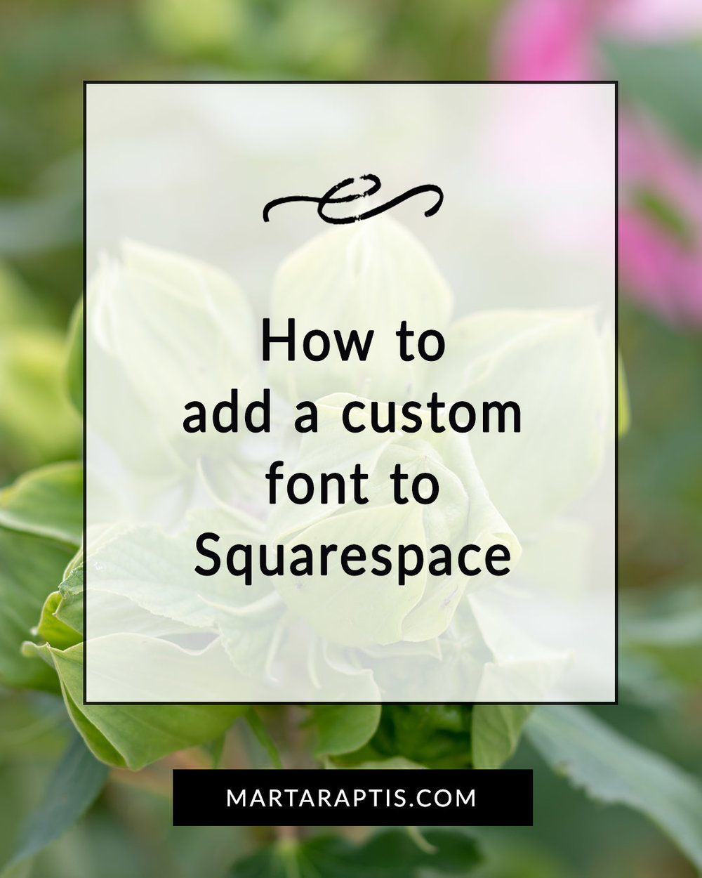 how to add a custom font in Squarespace