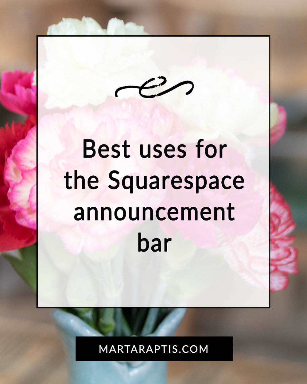 Best uses for the Squarespace announcement bar