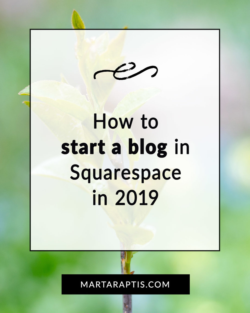 how to start a blog in squarespace