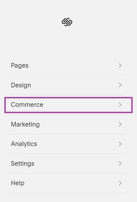 commerce Squarespace