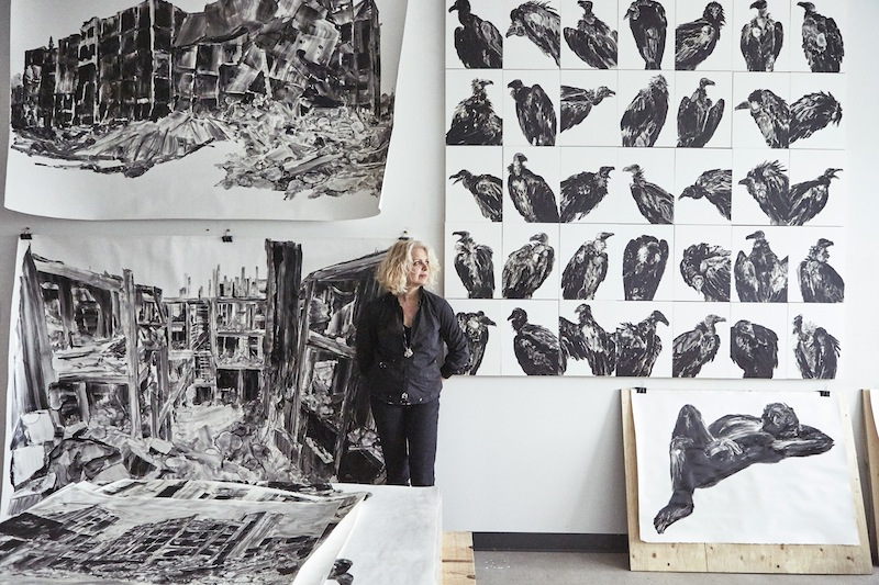 Photography: Kathleen Finlay - Barbara Jacques in her studio