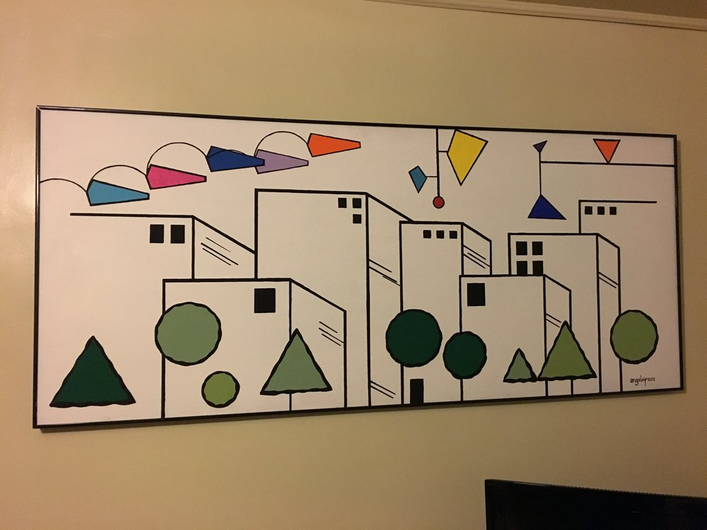 Mobiltropilis . Acrylic on canvas. 70' X 30""