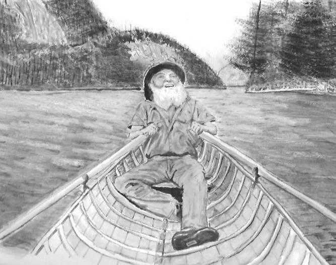 Brett Lawrence in Adirondack Guide Boat
