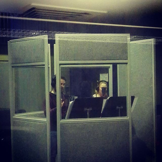 Actors in the booth #lucydpodcast #audiodrama #recordingstudio
