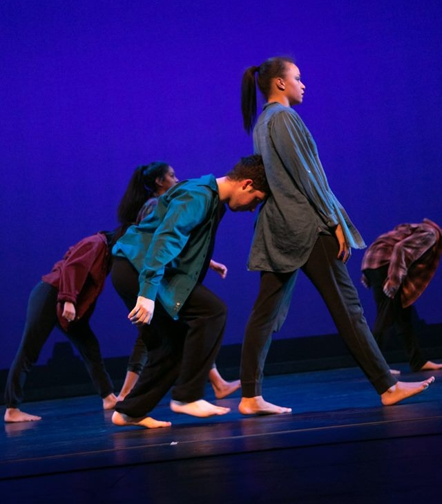 "Dancers from Hofstra University's Danceworks Productions performing ""No More, No More"" at the John Cranford Adams Playhouse in April. Alexis had the pleasure of setting work at her alma mater!"