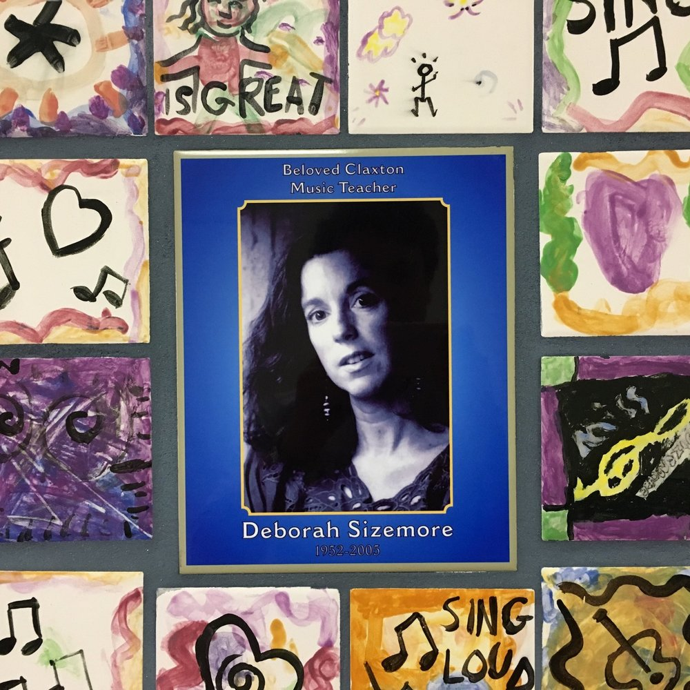 Deborah Sizemore is memorialized in Claxton Elementary with the mural pictured above.