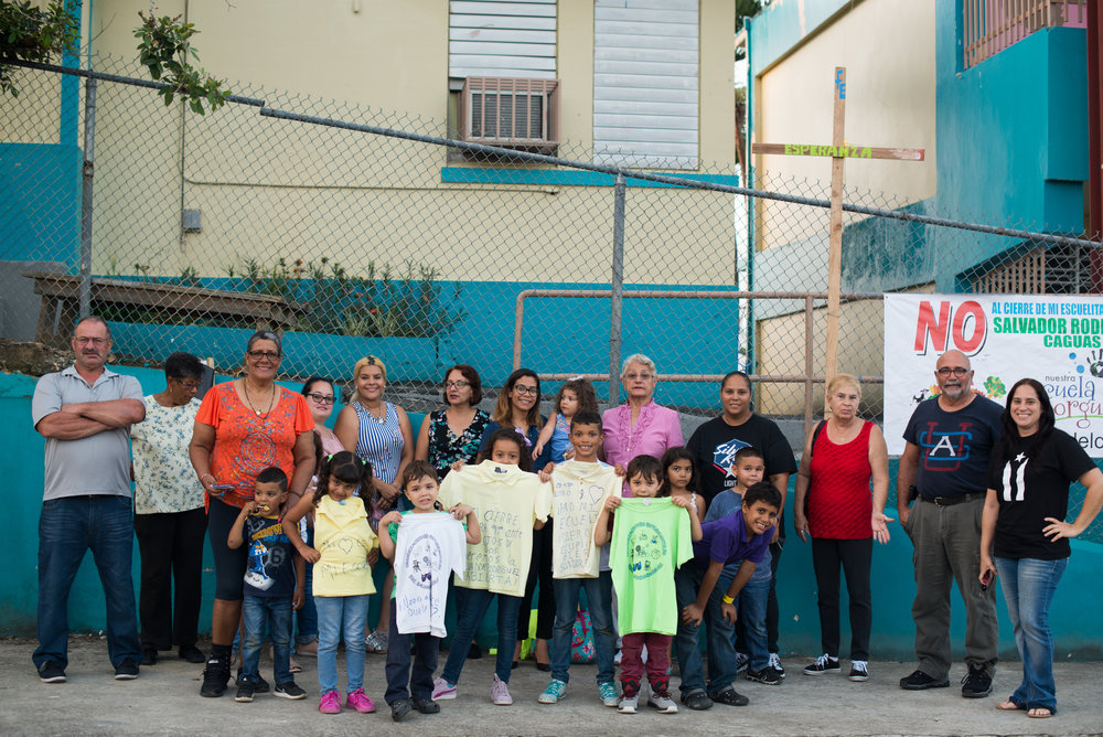6/6/18 – Caguas, Puerto Rico – The Puerto Rican Department of Education is closing 283 schools, and moving multiple schools into the same building, citing the past year's drastic drop in enrollment as one of the primary reasons to lower the amount of schools, and instead increase the amount of students in each school. Students of special education schools are one of the groups to be most negatively affected by these closings, as the new schools may not offer the resources the students need and have access to at their current schools. La Escuela Salvador Rodrigruez has 120 students and will be closed for the next academic year, though parents are still fighting for it to remain open. (Sofie Hecht Photography)