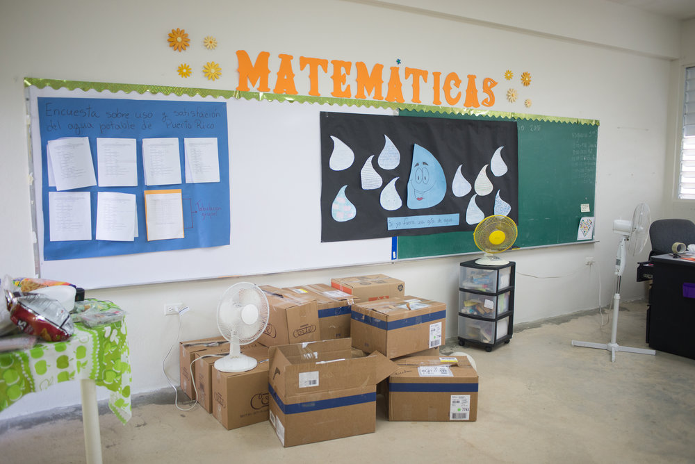 6/6/18 – Bayamón, Puerto Rico – The Puerto Rican Department of Education is closing 283 schools, and moving multiple schools into the same building, citing the past year's drastic drop in enrollment as one of the primary reasons to lower the amount of schools, and instead increase the amount of students in each school. Students of special education schools are one of the groups to be most negatively affected by these closings, as the new schools may not offer the resources the students need and have access to at their current schools. La Escuela Aurelio Perez Martinez in the town of Bayamón is among the schools that will be closed. (Sofie Hecht Photography)