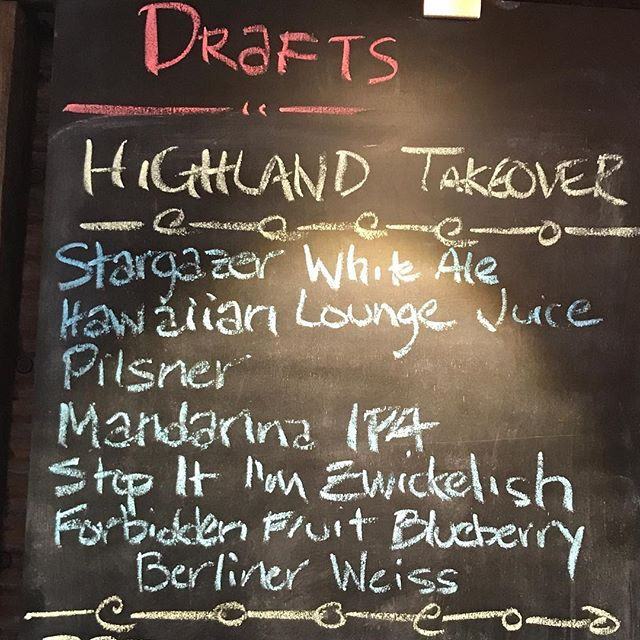 @highlandbrewing tap takeover today! It's Thursday so you know all drafts are only $4! #goodfriendsgoodtimes #neighborhoodbar #westashevillelife #afterthestorm