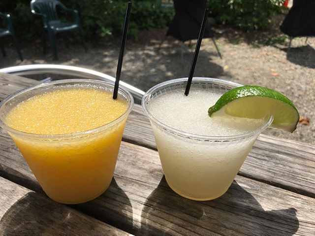 @phunclesam, frozen mango margaritas! Get here now! #sundayfunday #backyardcocktails #avlmusic #neighborhoodbar