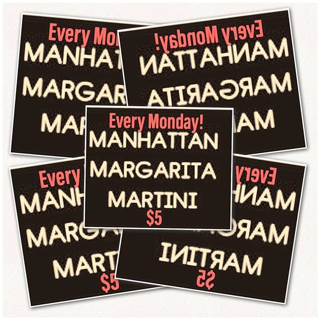 It will soon be 5:00pm and you need a drink! You could sippin on an ice cold Margarita or daytrippin' in NYC with a Manhattan or feeling like Sinatra and a Martini. Guess what? All are only $5 today!! #fivedollardrinks #wishiwasaballer #ilovenewyork #neighborhoodbar
