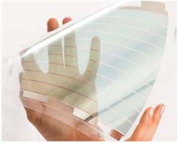 Figure 6 Example of the transparent solar cell technology developed by Heliatek