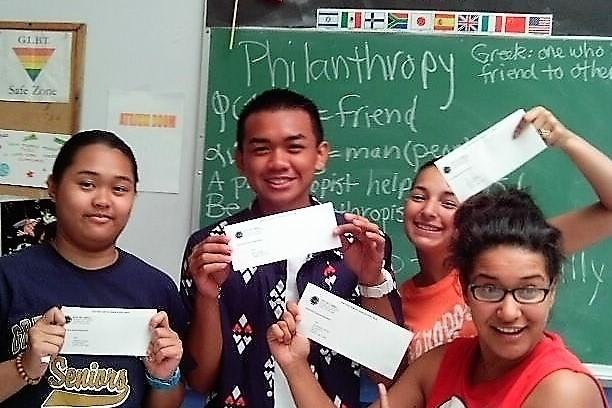 Summer Camp counselors get their first paychecks!