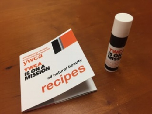 Tools of the trade - hand-made lip balm and a booklet of non-toxic beauty recipes to share with peers