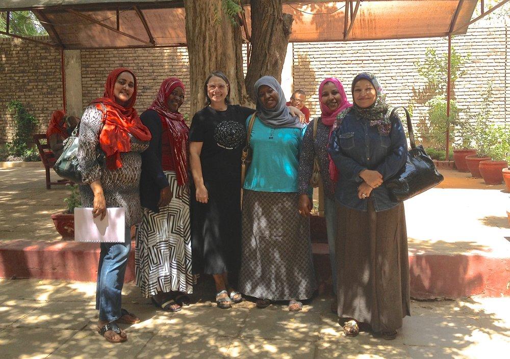 Teacher friends at Unity High School, Khartoum