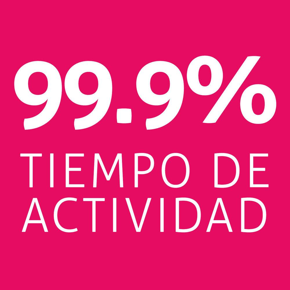 99.9% tiempo de actividad