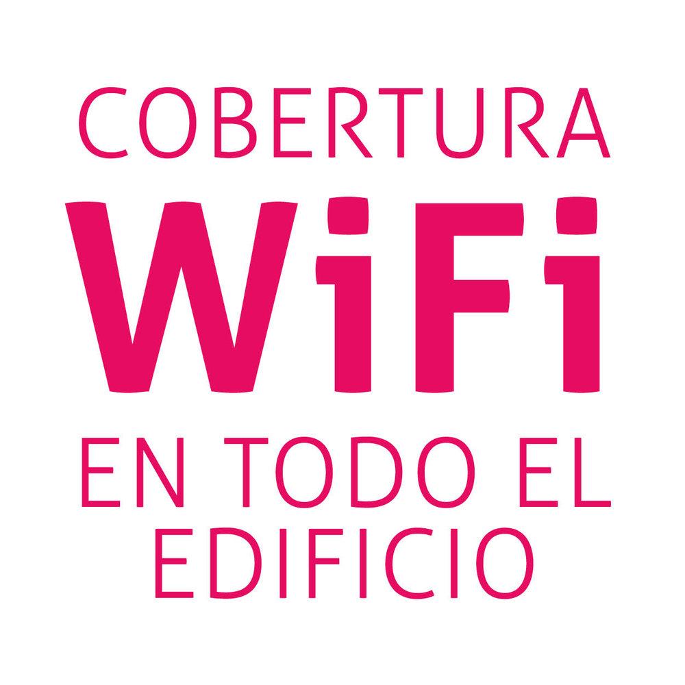 Cobertura WiFi en todo el edificio