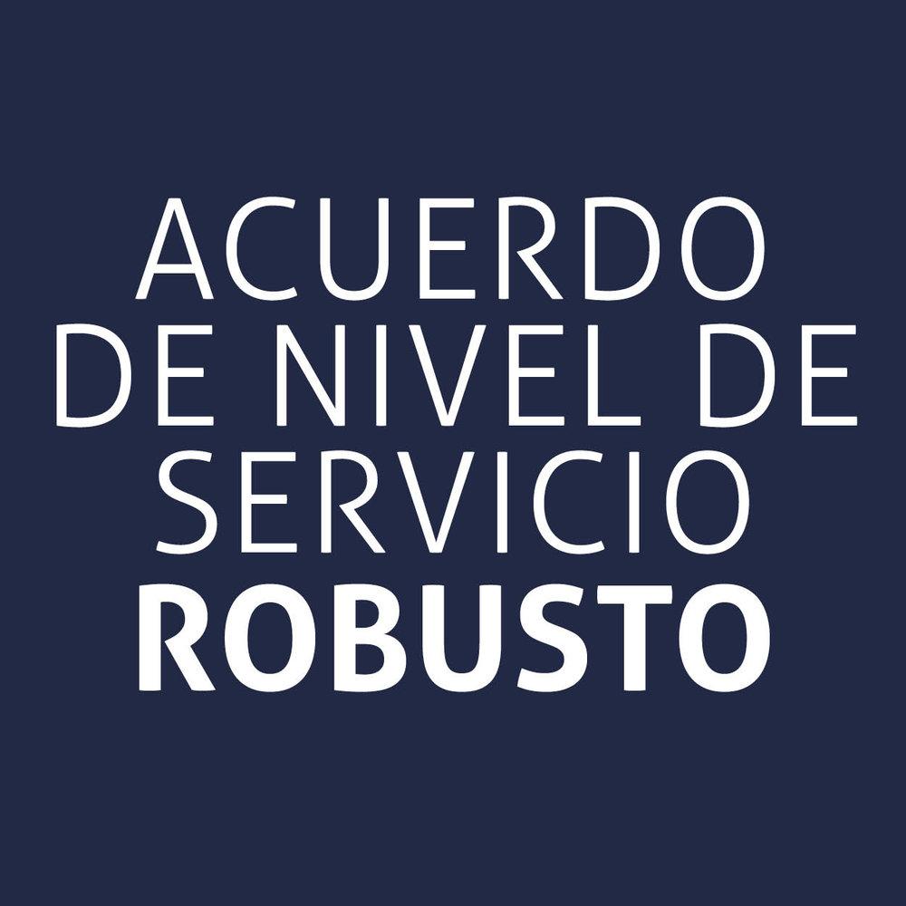 Acuerdo de nivel de servicio robusto