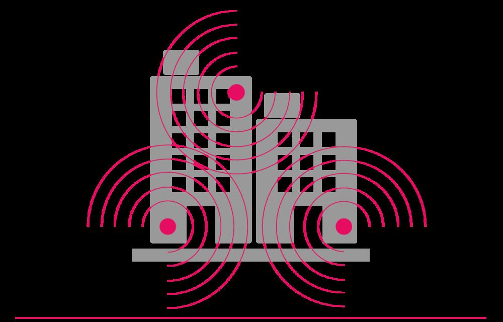 Se comparte una red inalámbrica gestionada en un edificio multiinquilino, que proporciona acceso Wi-Fi a todos los inquilinos del edificio.