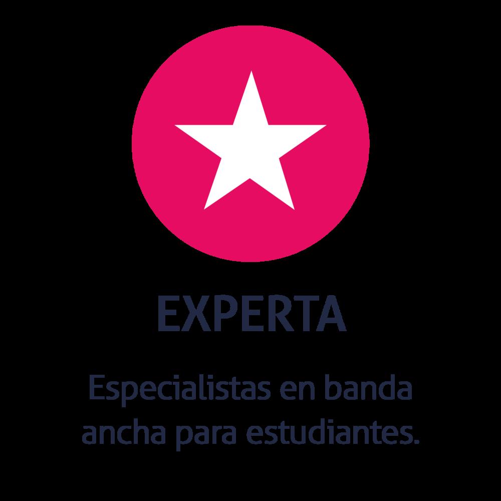 Especialistas en banda ancha para estudiantes.