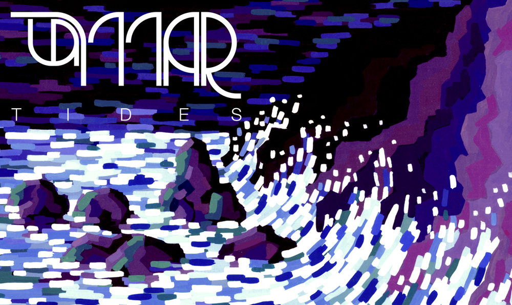 La Mar, Tides. - Post-Rock Album CoverI was invited by the well-known Venezuelan Post-Rock Band, La Mar, to translate their music into images and create the album art of their second release