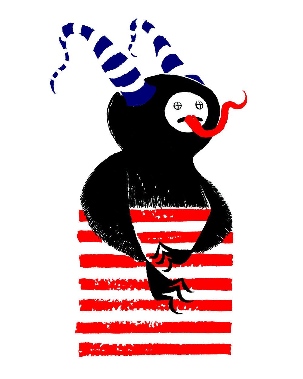 Bipartisan stripes.