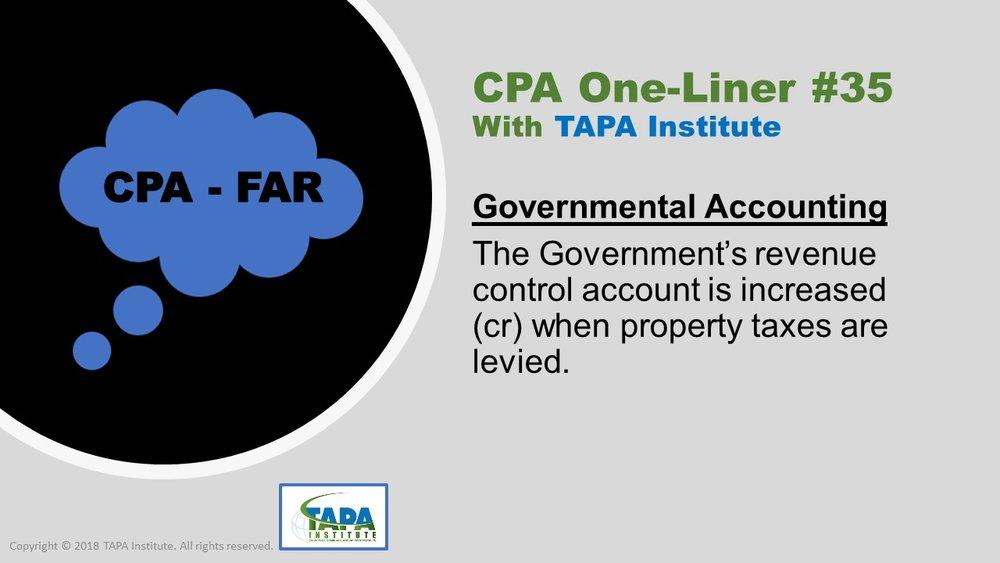 FAR - CPA One-liner - Govermental Accounting - 00935.jpg