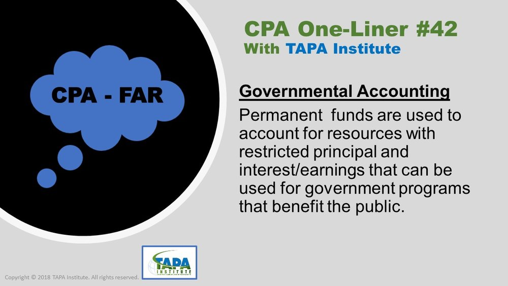 FAR - CPA One-liner - Govermental Accounting - 06942.jpg