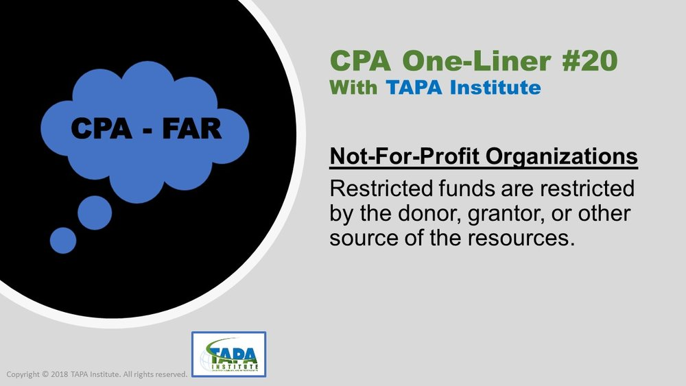FAR - CPA One-liner - Not for profit organizations- 01320.jpg
