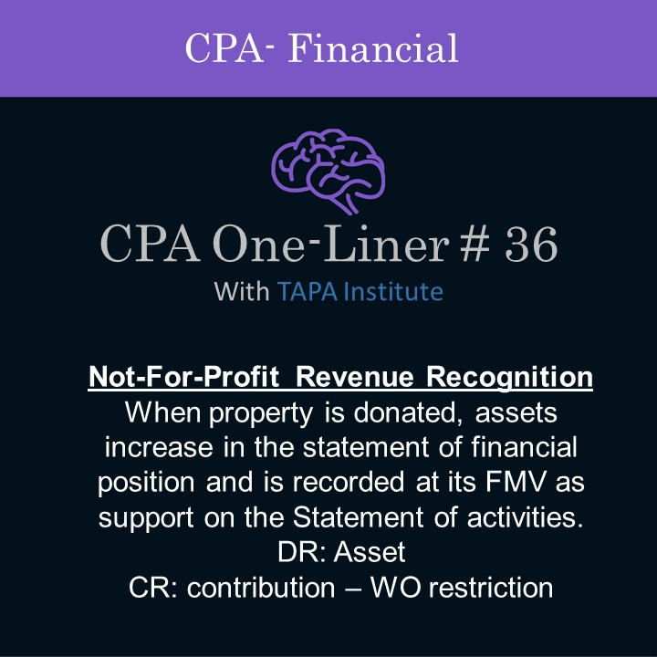 FAR - CPA One-liner - Not for profit revenue recognition- 01236.jpg