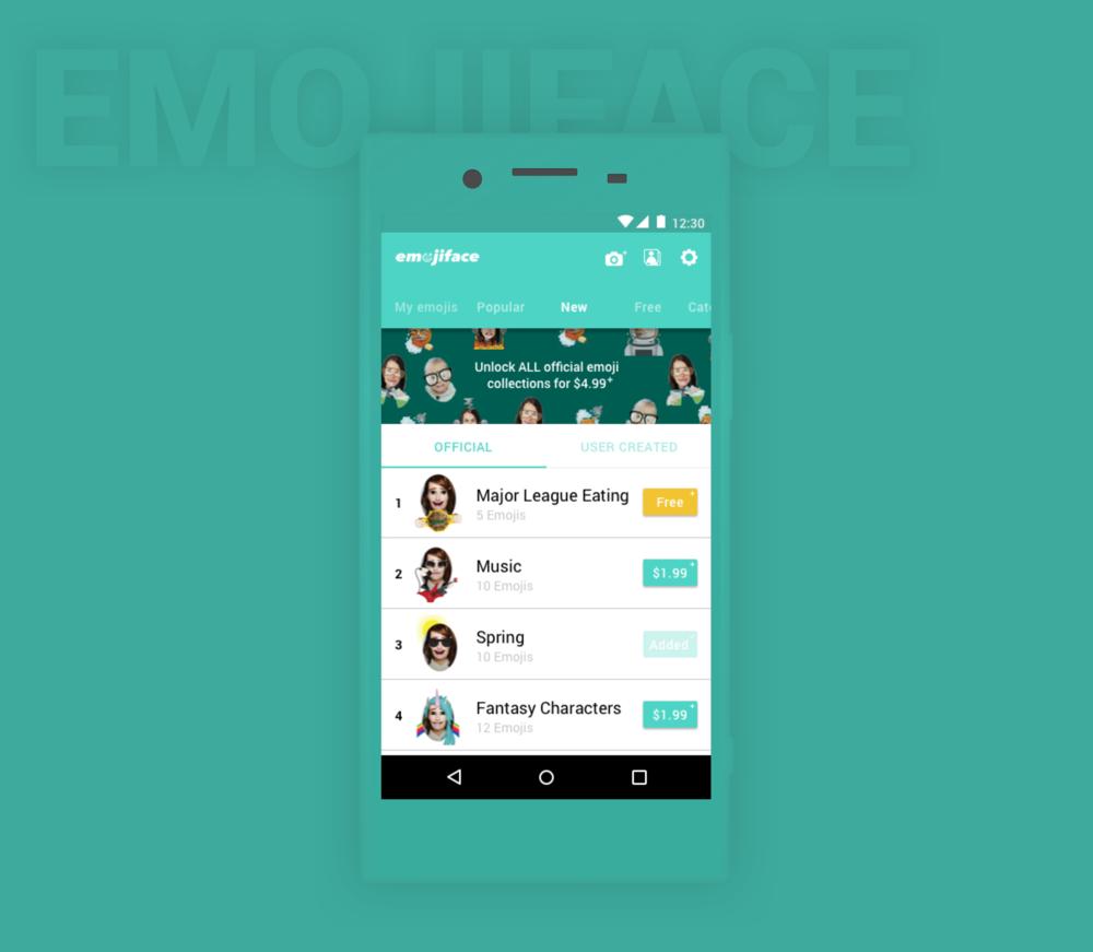 EmojiFace Android Design