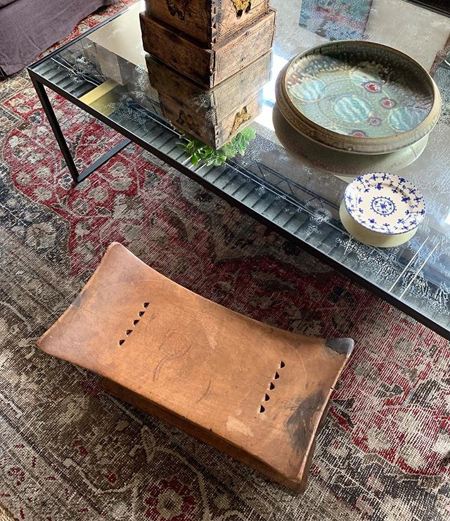 We're ready for Friday! This vintage stool is the best place to kick your feet up on a long day. . . . #30ahome #vintage #oklahomainteriordesign #antique #curateddesign #dustindorr